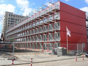 Intermodal containers down by Will County Court House...(not really)